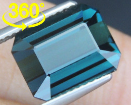 5.49cts, Cyan Blue Indicolite Tourmaline,
