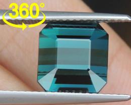 5.55cts, Cyan Blue Indicolite Tourmaline,