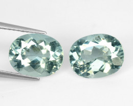4.73 Cts 2 Pcs Un Heated Blue Natural Aquamarine Loose Gemstone