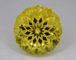 Natural Lemon Quartz 14.39 Cts Top Quality With  Precision Cut