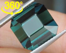 9.54cts, Cyan Blue Indicolite Tourmaline,