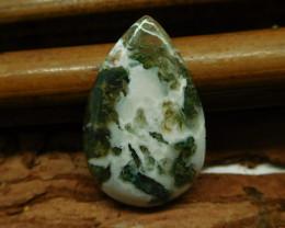 Natural gemstone moss agate cabochon (G2588)