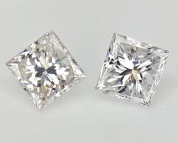 2/0.23 cts , Natural White Diamonds , Brilliant Cut Diamonds