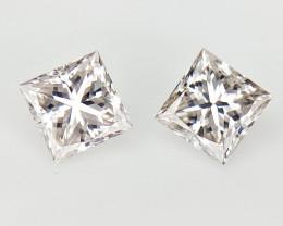2/0.17 cts , Natural Rare White Diamonds , VS / SI Diamonds