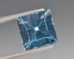 Natural Blue Topaz 3.73 Cts Concave Cut.