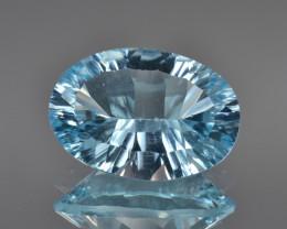 Natural Blue Topaz 7.24 Cts Concave Cut.