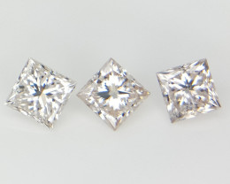 3/0.33 cts , Natural Rare White Diamond , Rare Transparent Diamond