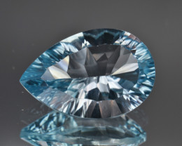 Natural Blue Topaz 7.78 Cts Concave Cut.