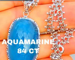 84ct - AQUAMARINE - COLLECTOR QUALITY-PENDANT