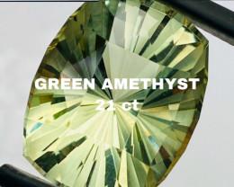 21 ct -PRASIOLITE  COLLECTOR QUALITY-CEYLON ( green amethyst)