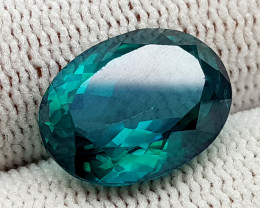 9CT GREEN TOPAZ COATED  BEST QUALITY GEMSTONE IIGC05