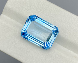 Natural Sky Blue Topaz 13.86 Cts Good Luster