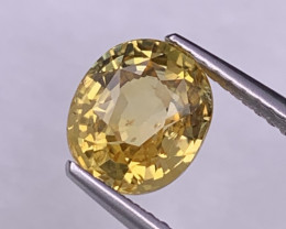 2.92 Cts Certified Srilanka AAA Quality Vivid Yellow Natural Sapphire Unhea