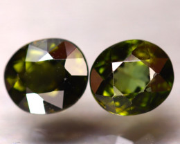 Tourmaline 3.62Ct 2Pcs Natural Green Tourmaline E2506/B19