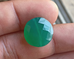 Natural Green Onyx Excellent Cut Round shaped Bead VA2273