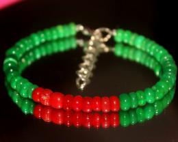 36 Crts Natural Ethiopian Welo Multi Color Opal Bracelet 316