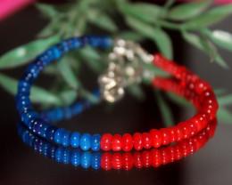 21 Crts Natural Ethiopian Welo Multi Color Opal Bracelet 305