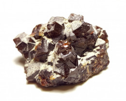 Amazing Natural color Damage free Garnet Specimen with mine clay  110Cts-A