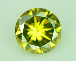 Yellow Diamond 0.25  ct Top Grade Brilliance~S
