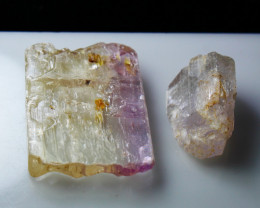 119.65 CTs Natural & Unheated~ Kunzite Crystal Rough Lot