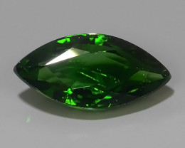 2.15 CTS CHROME TOURMALINE MARQIUSE  TOP COLOR TANZANIA~EXCELLENT!!