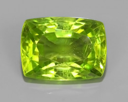 4.55 CTS AWESOME NATURAL GREEN PERIDOT CUSHION EXCELLENT~BURMA!