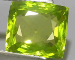 6.70 CTS AWESOME NATURAL GREEN PERIDOT CUSHION EXCELLENT~BURMA!