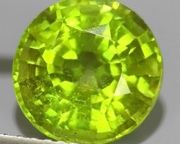 3.65 CTS AWESOME NATURAL GREEN PERIDOT ROUND EXCELLENT~BURMA!