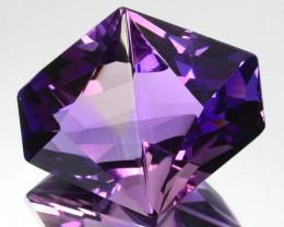 ~CUSTOM CUT~ 35.58 Cts Huge Natural Purple Amethyst Fancy Cut Bolivia