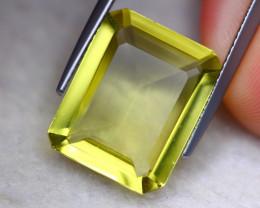 9.18ct Natural Lemon Quartz Octagon Cut Lot  V8378