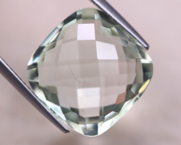 11.29ct Natural Green Prasiolite Cushion Cut Lot V8381