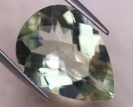 9.72ct Natural Green Prasiolite Pear Cut Lot V8385