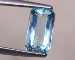 1.33ct Natural Blue Aquamarine Octagon Cut Lot D477