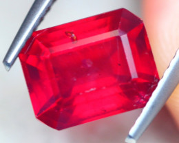 3.37ct Blood Red Color Ruby Octagon Cut Lot SG12