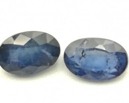 Sapphire pair, 1.08ct, not the clearest ones but they've got a lot of perso