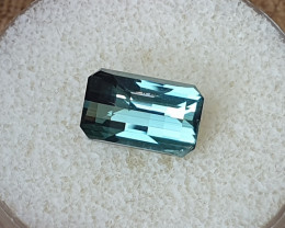 3,88ct Steel blue Tourmaline - Master cut!