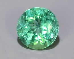 ~EXCELLENT~NATURAL COLOMBIAN EMERALD ~ROUND~NICE QUALITY GOOD COLOR~