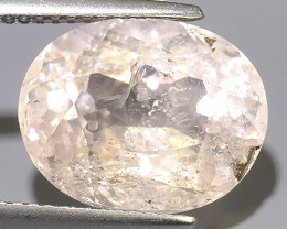 7.45 CTS EXCELLENT NATURAL LUSTER-PEACH MORGANITE OVAL GEM!!