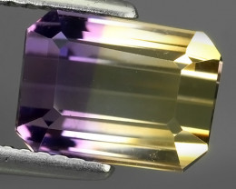 3.25 CT GORGEOUS AMAZING TOP PURPLE & GOLD YELLOW 100% NATURAL AMETRINE GEM