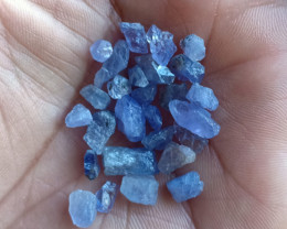 25 Ct Natural Tanzanite Genuine Rough Gemstone Parcel VA2324