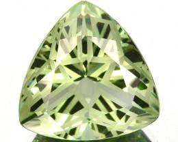 ~CUSTOM CUT~ 9.45 Cts Natural Green Prasiolite/Amethyst Fancy Trillion Braz