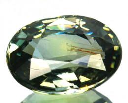 ~UNHEATED~ 1.46 Cts Natural Sapphire Bluish Green Oval Cut Australia