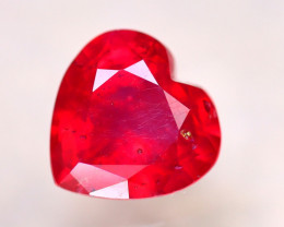Ruby 3.18Ct Heart Shape Madagascar Blood Red Ruby DN54/A20