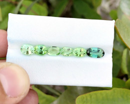 4.70 Ct Natural Bi Color & Green Transparent Tourmaline Gems Parcels