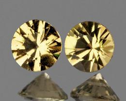 5.50 mm Round Machine Cut 2pcs 2.00cts Golden Zircon [VVS]