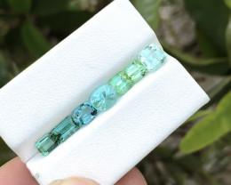 5.30 Ct Natural Green &  Blue Transparent Tourmaline Gemstones Parcels