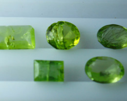 3.60 CTs Natural & Unheated~ Green Peridot Gemstone Parcel