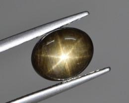 Natural Black Star Sapphire 3.53 Cts, Six Rays
