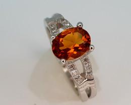 15Crt Madeira Citrine 925 silver 7 Natural Gemstones JI107