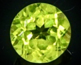 0.88 Crt Natural Peridot Faceted Gemstone.( AB 60)